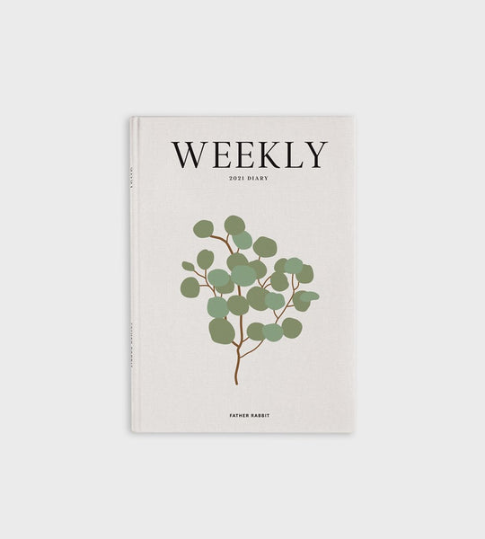Father Rabbit Stationery | Weekly Diary 2021 | Eucalyptus