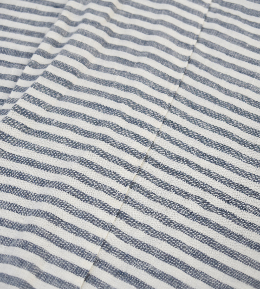Father Rabbit | Linen Flat Sheet | Navy Stripe