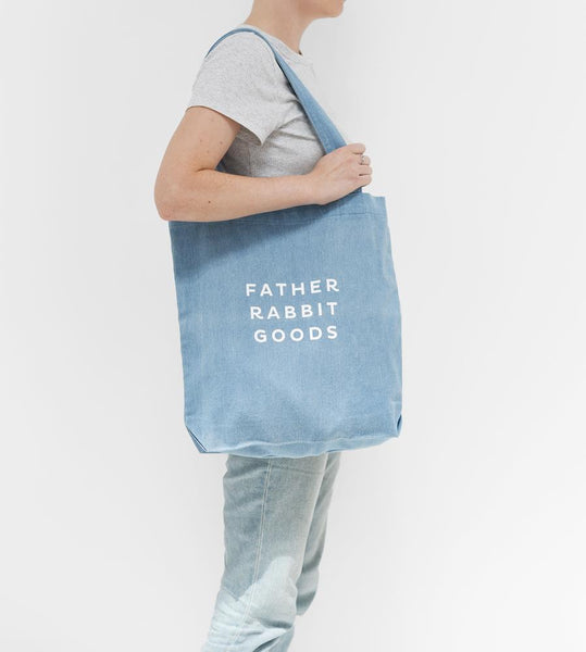 Father Rabbit Goods | Cotton Canvas Tote | Denim