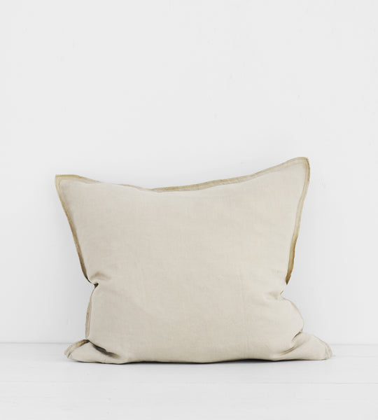 Father Rabbit | Linen Cushion | Dove Grey