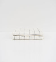 Father Rabbit | Linen Reversible Duvet Cover | Grid & Pinstripe