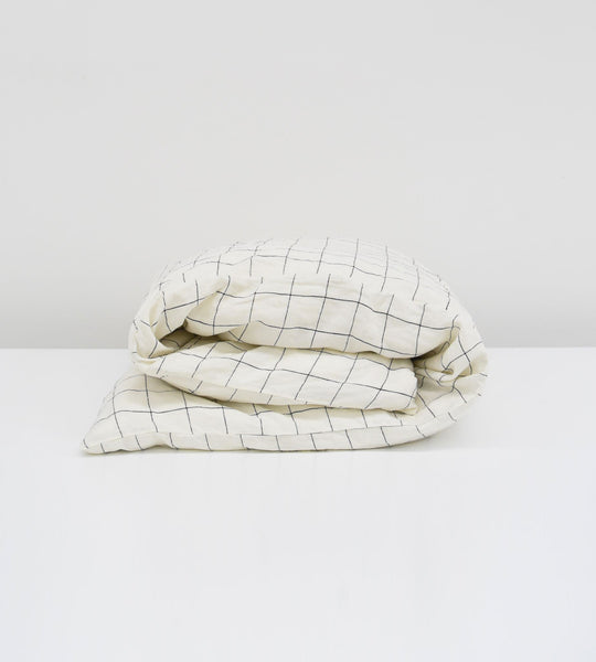 Father Rabbit | Linen Duvet Cover | Grid