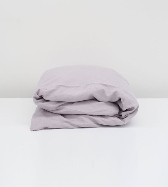 Father Rabbit | Linen Duvet Cover | Lavender
