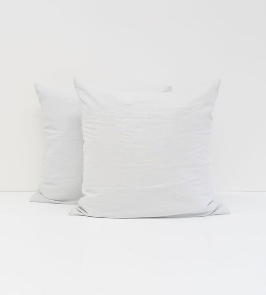Father Rabbit | Linen European Pillowcase Pair | Ice Blue