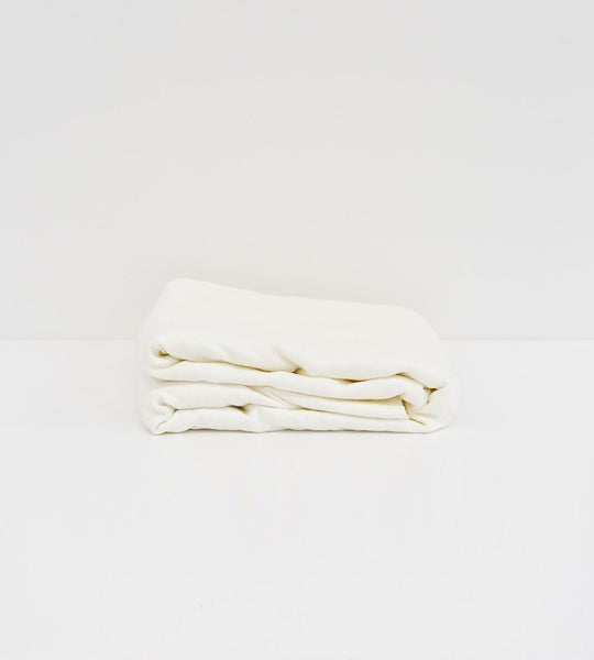 Father Rabbit | Linen Fitted Sheet | Cream