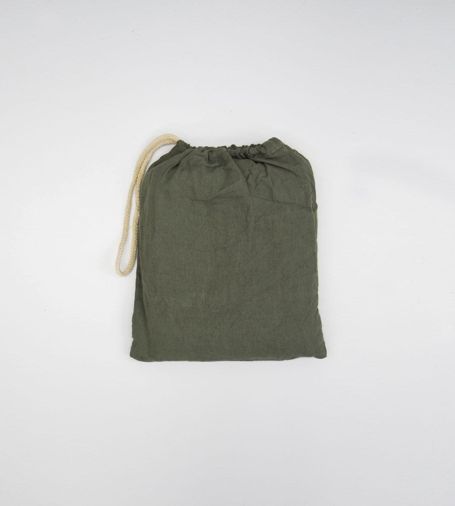 Father Rabbit | Linen Fitted Sheet | Khaki