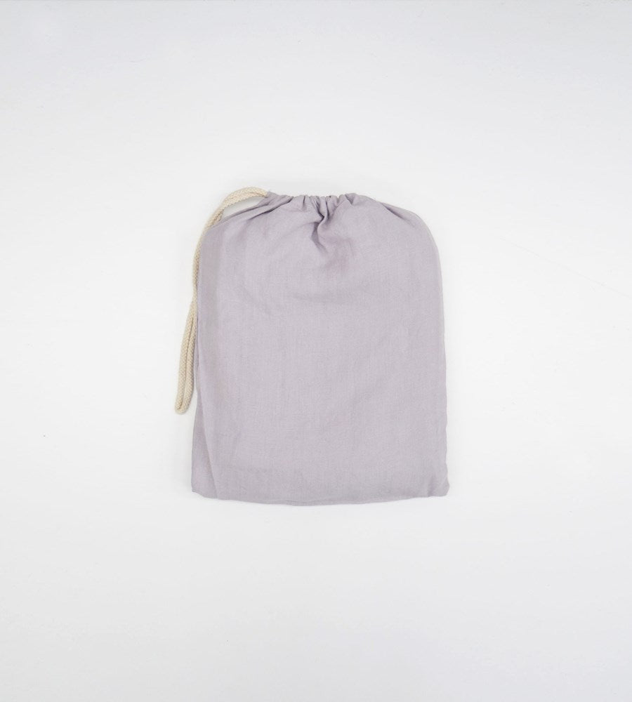 Father Rabbit | Linen Fitted Sheet | Lavender