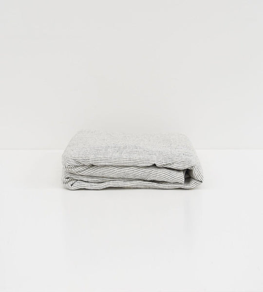 Father Rabbit | Linen Fitted Sheet | Pinstripe
