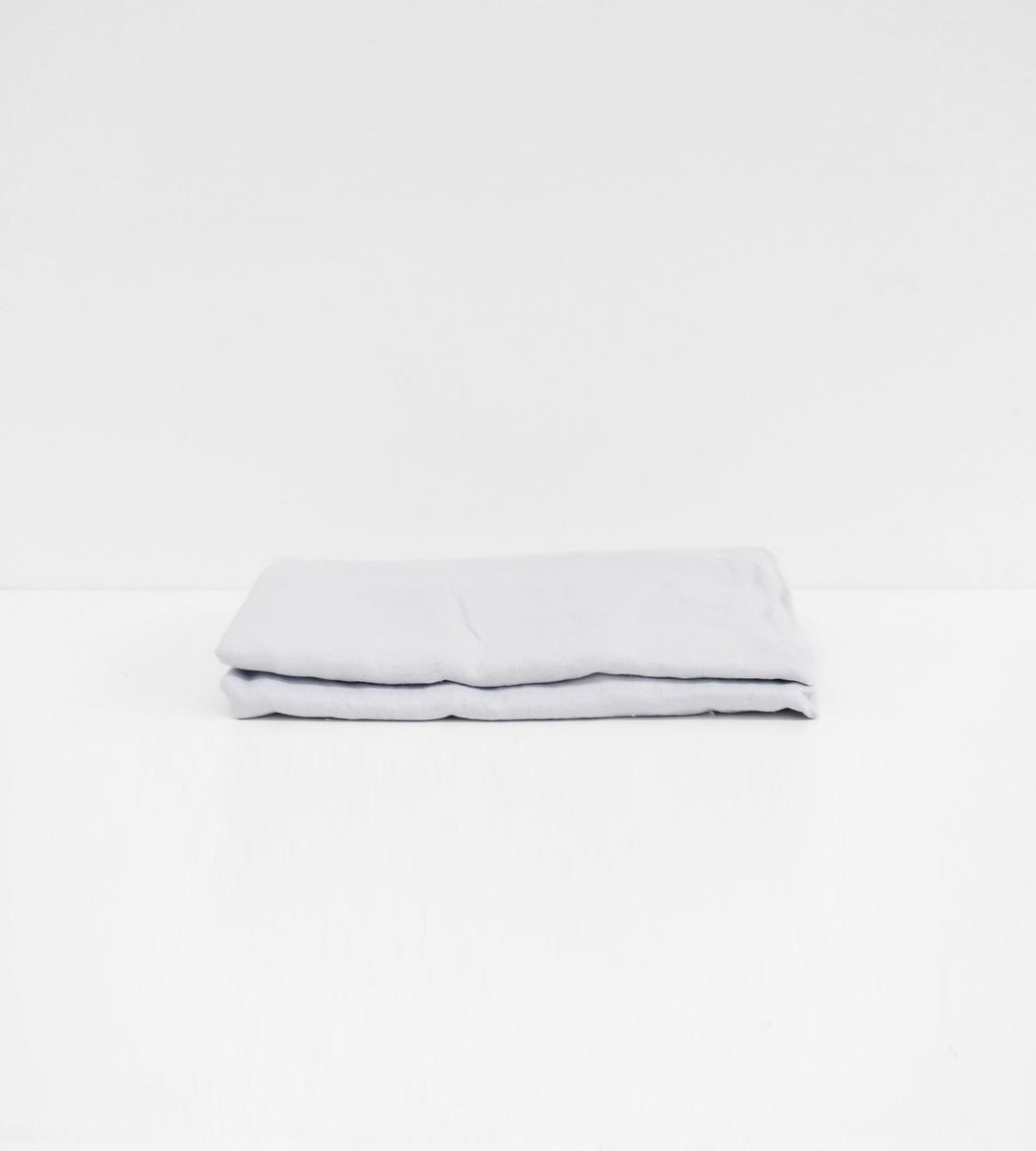 Father Rabbit | Linen Flat Sheet | Ice Blue