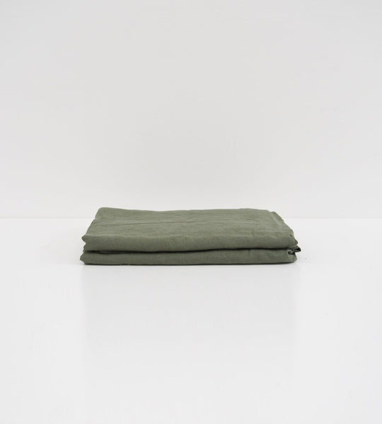 Father Rabbit | Linen Flat Sheet | Khaki