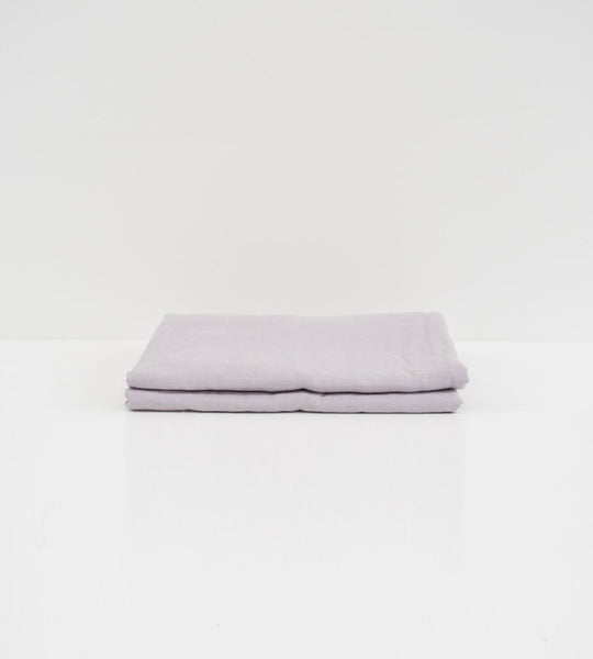Father Rabbit | Linen Flat Sheet | Lavender