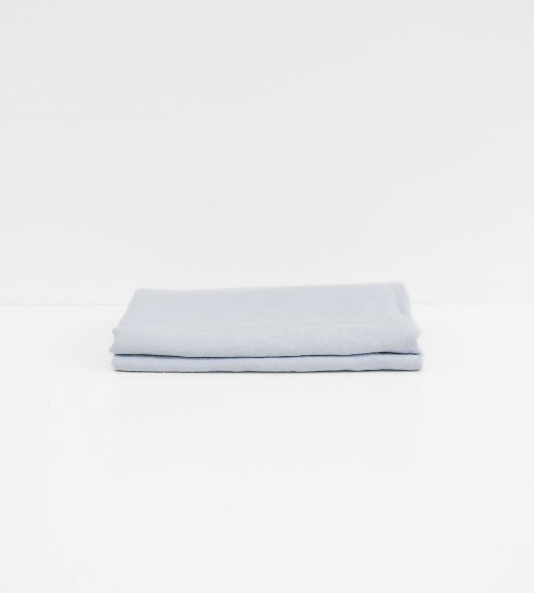 Father Rabbit | Linen Flat Sheet | Light Blue