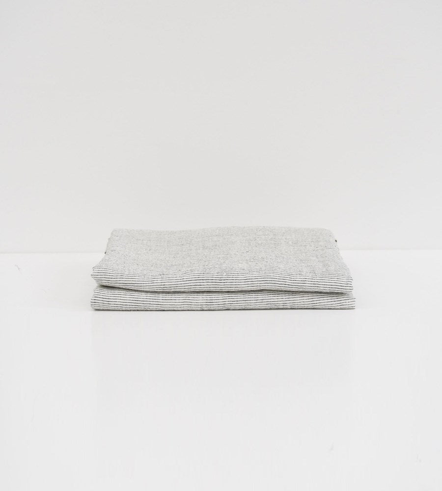 Father Rabbit | Linen Flat Sheet | Pinstripe