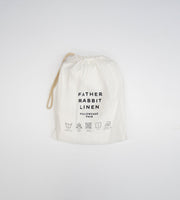Father Rabbit | Linen Standard Pillowcase Pair | Cream | Rabbit