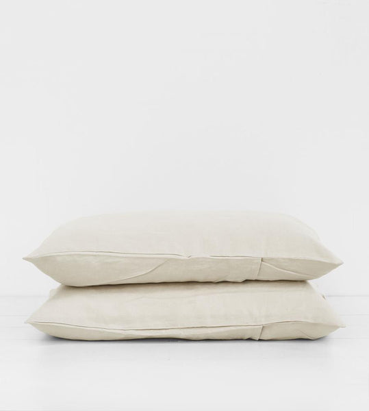 Father Rabbit | Linen Standard Pillowcase Pair | Dove Grey