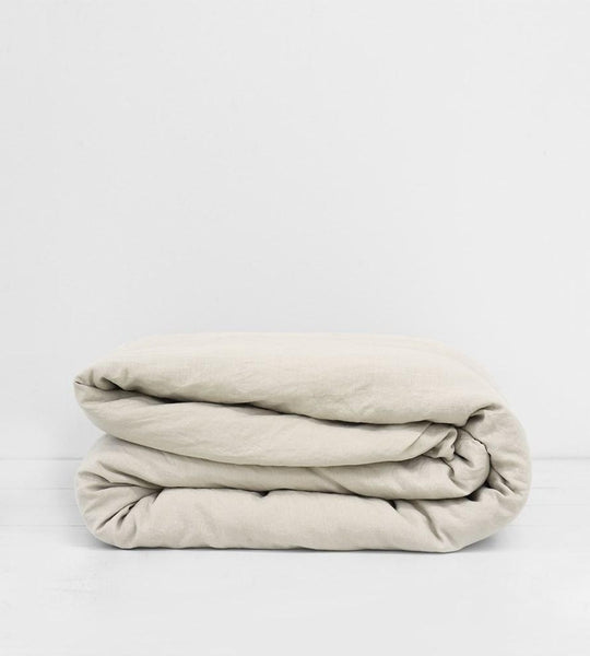Father Rabbit | Linen Duvet Cover | Dove Grey
