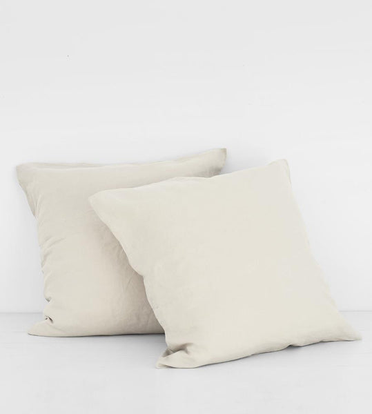 Father Rabbit | Linen European Pillowcase Pair | Dove Grey