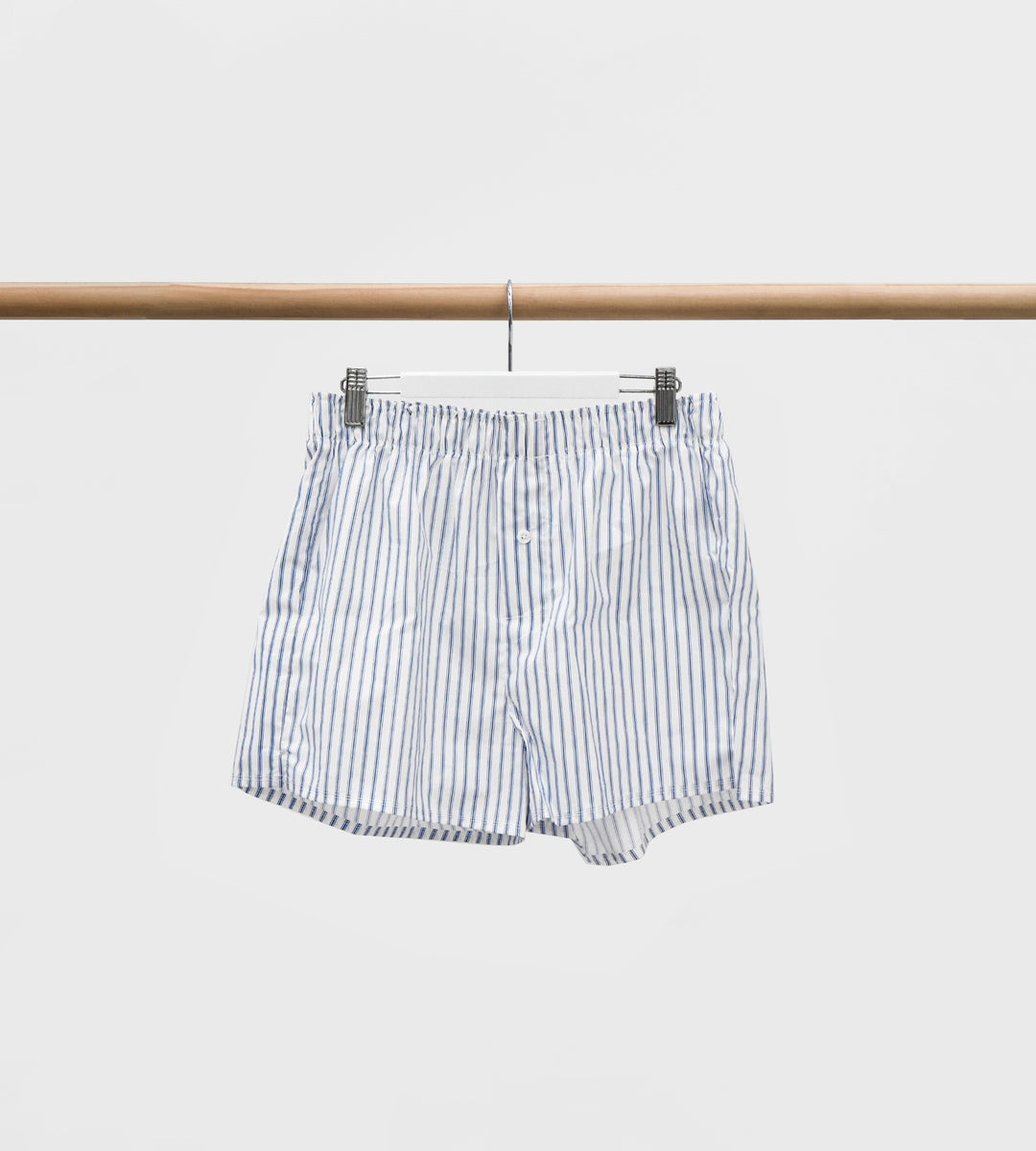 Father Rabbit | Men's Boxer Shorts | White & Blue Stripe