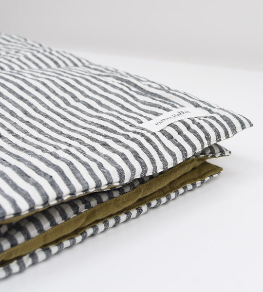 Father Rabbit | Princess Topper | Olive & Charcoal Stripe