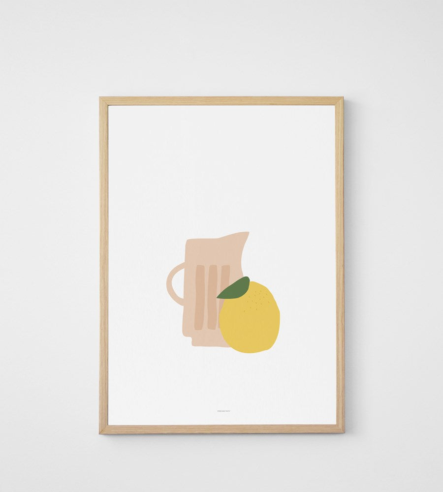 Father Rabbit Jug with Lemon Print