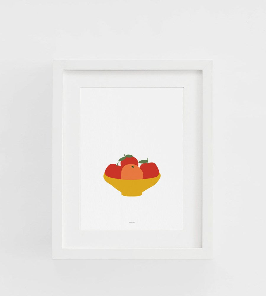 Father Rabbit | Oranges Print