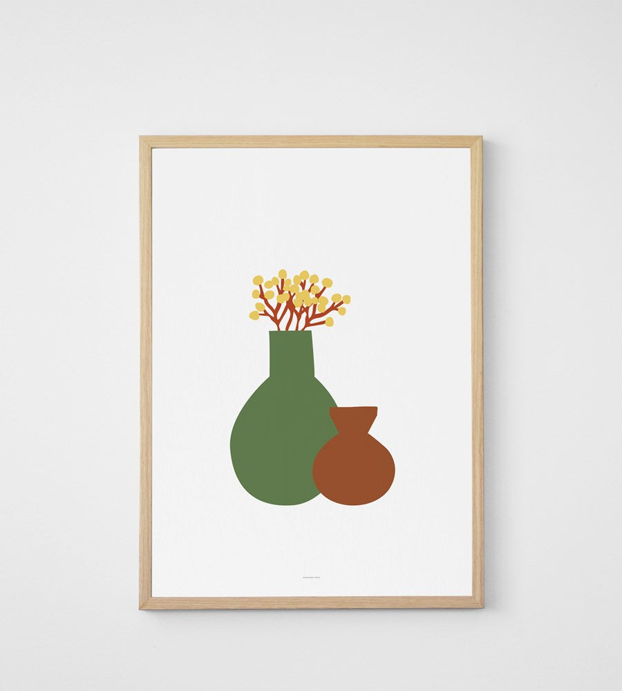 Father Rabbit | Still Life Vases Print