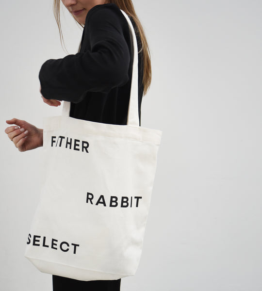 Father Rabbit Select | Cotton Canvas Tote | Cream