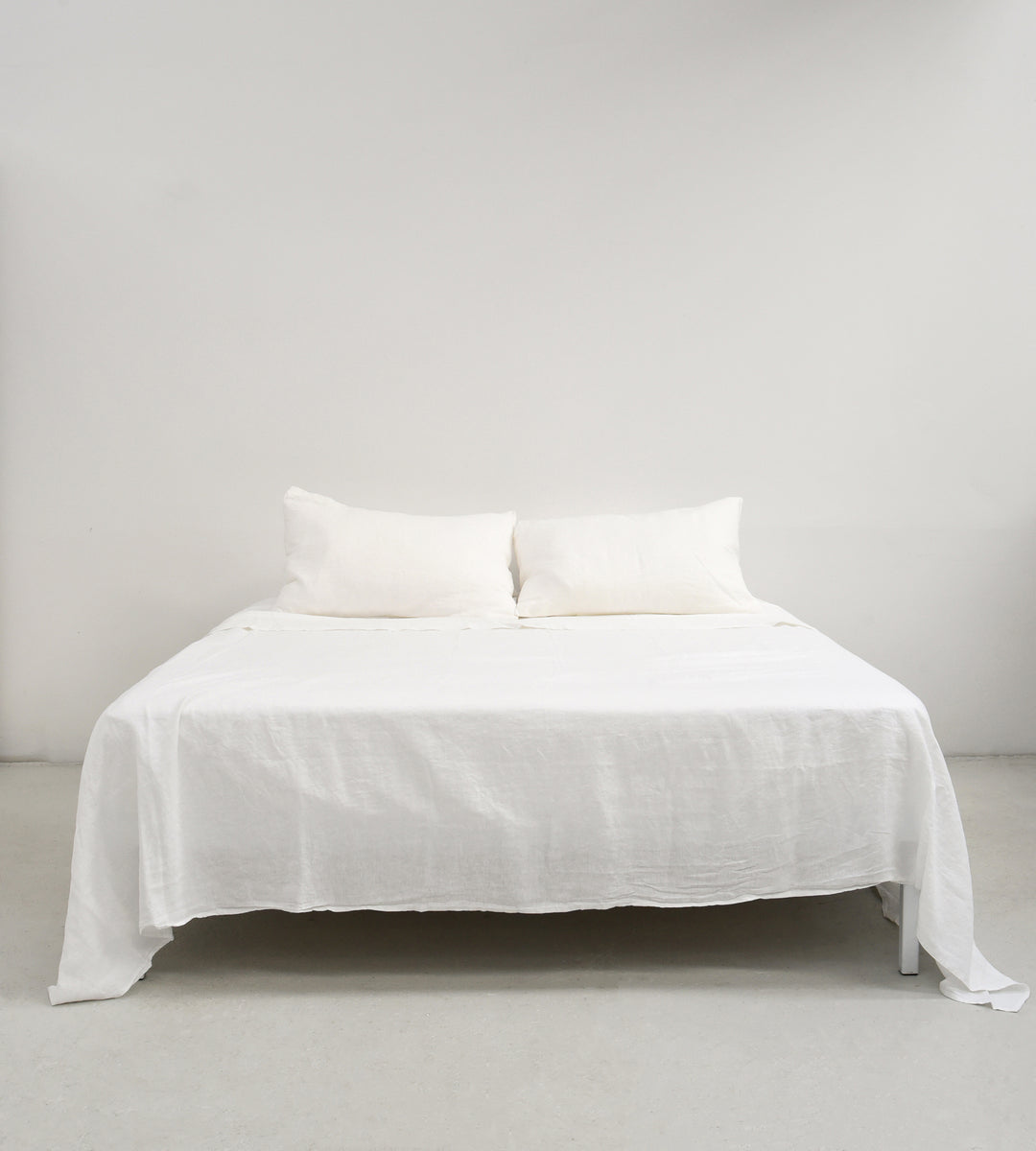 Father Rabbit | Linen Flat Sheet | Cream