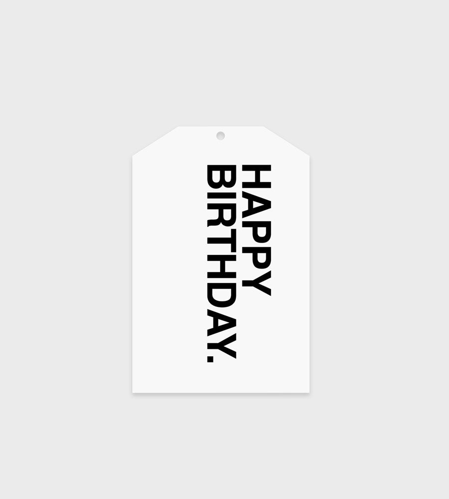 Father Rabbit Stationery Gift Tag | Bold Happy Birthday