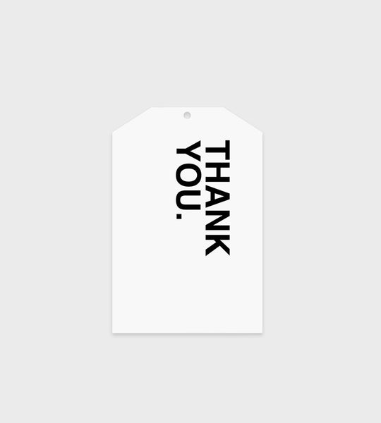 Father Rabbit Stationery Gift Tag | Bold Thank you