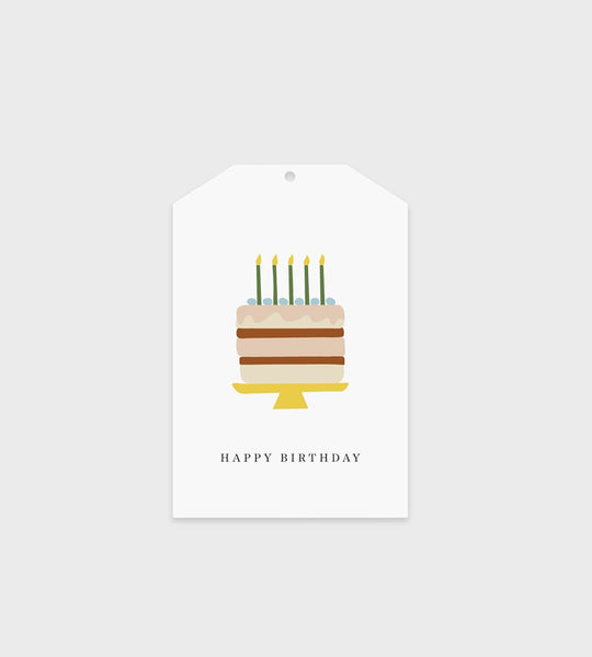 Father Rabbit Stationery Gift Tag | Happy Birthday Cake