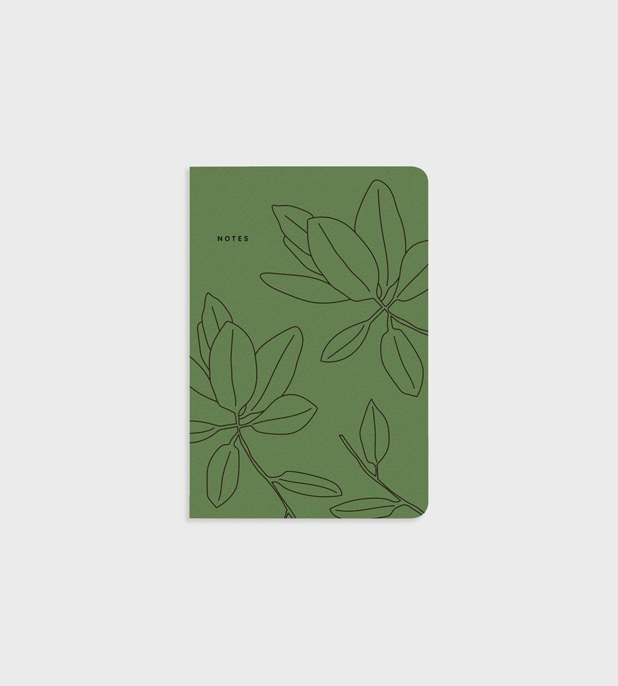 Father Rabbit Stationery Notebook Green Leaves