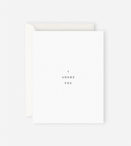 Father Rabbit Stationery | I Adore You Card