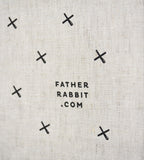 Father Rabbit All Over Kisses Linen Tea Towel Natural
