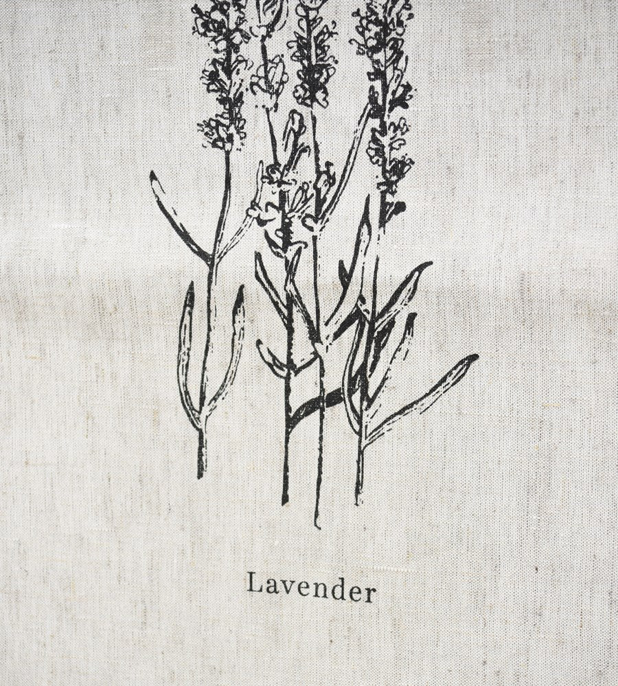 Father Rabbit Lavender Linen Tea Towel Natural