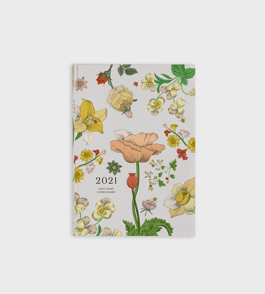 Father Rabbit Stationery | Daily Diary 2021 | Vintage Wallpaper