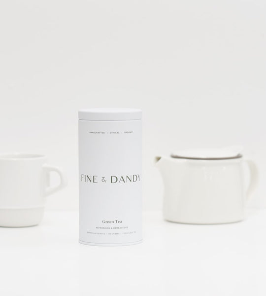 Fine & Dandy | Tea Tin | Fair Trade Organic Green Tea