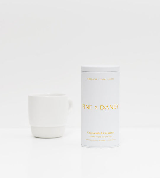 Fine & Dandy | Tea Tin | Fair Trade Organic Chamomile & Cinnamon Tea
