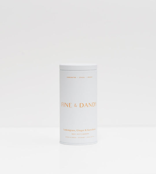 Fine & Dandy | Tea Tin | Organic Lemongrass, Ginger & Kawakawa Tea