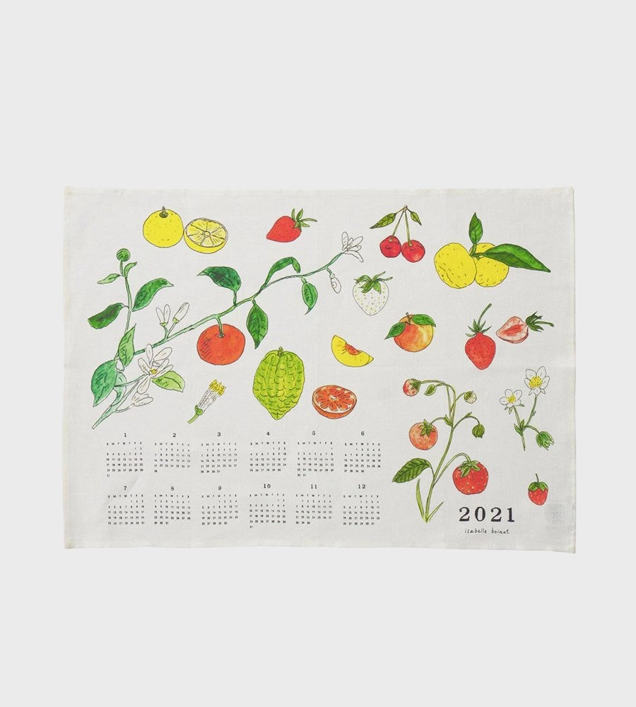 Fog Linen | 2021 Fabric Calendar Tea Towel | Fruit