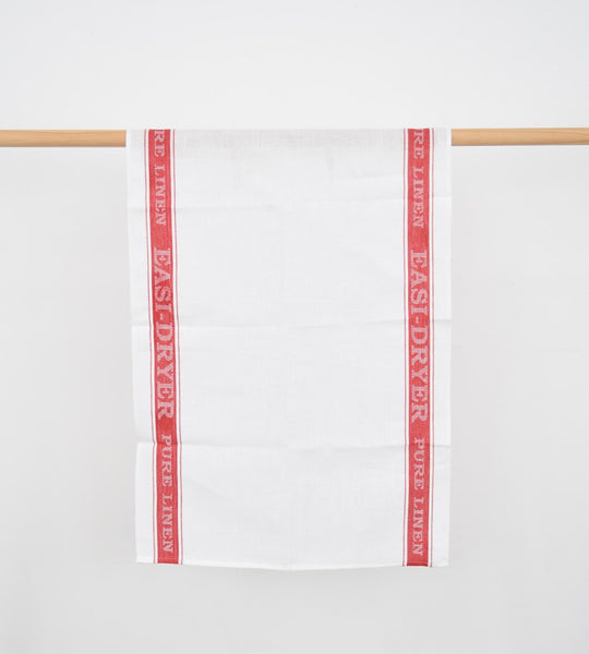 Pure Linen Easi-Dryer Tea Towel | Red