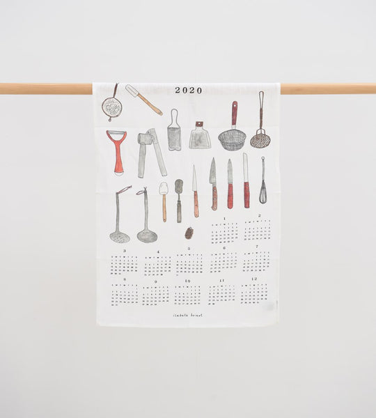 Fog Linen | Fabric Calendar Tea Towels | Cuisine