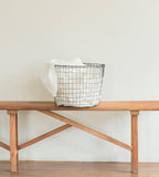 Fog Linen Basket Grey Large Round