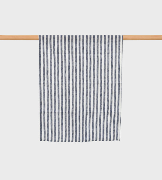 Fog Linen Tea Towel | Classic Navy & White Stripe