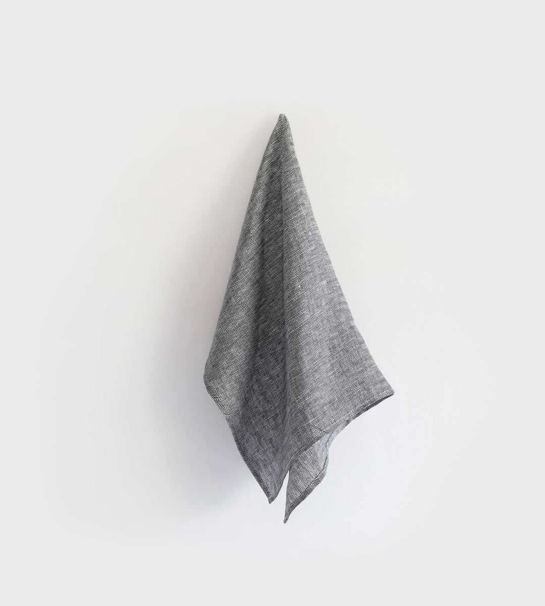 Fog Linen Tea Towel | Herringbone