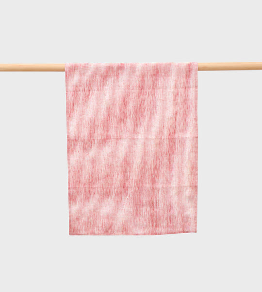 Fog Linen Tea Towel | Seersucker Red