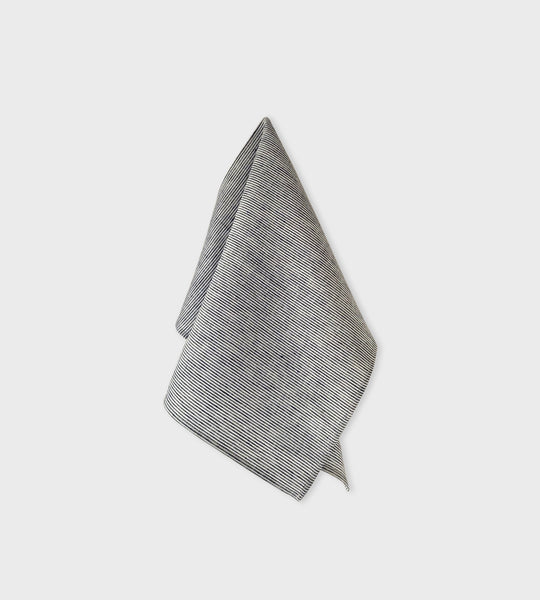 Fog Linen Tea Towel | White Seersucker