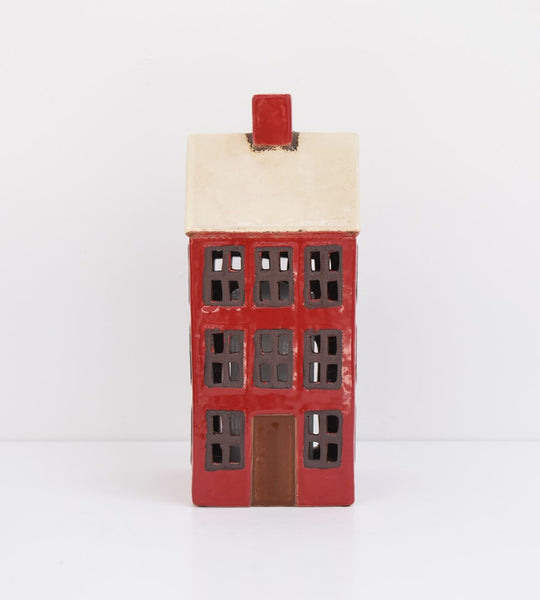 Grand Chalet Tea Light House | Red White