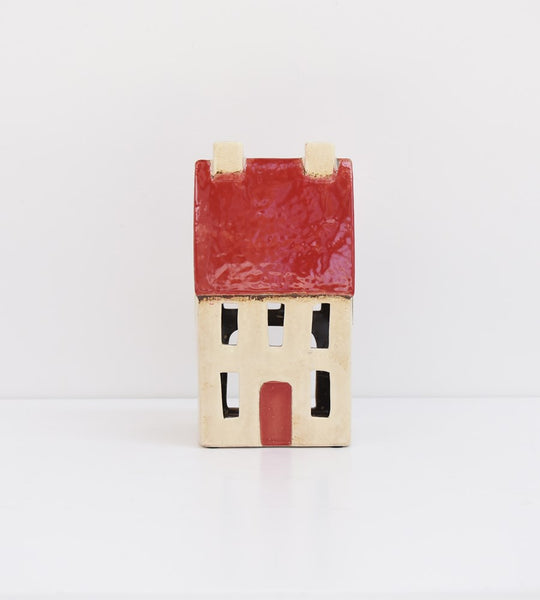 Chalet Tea Light House | Red White