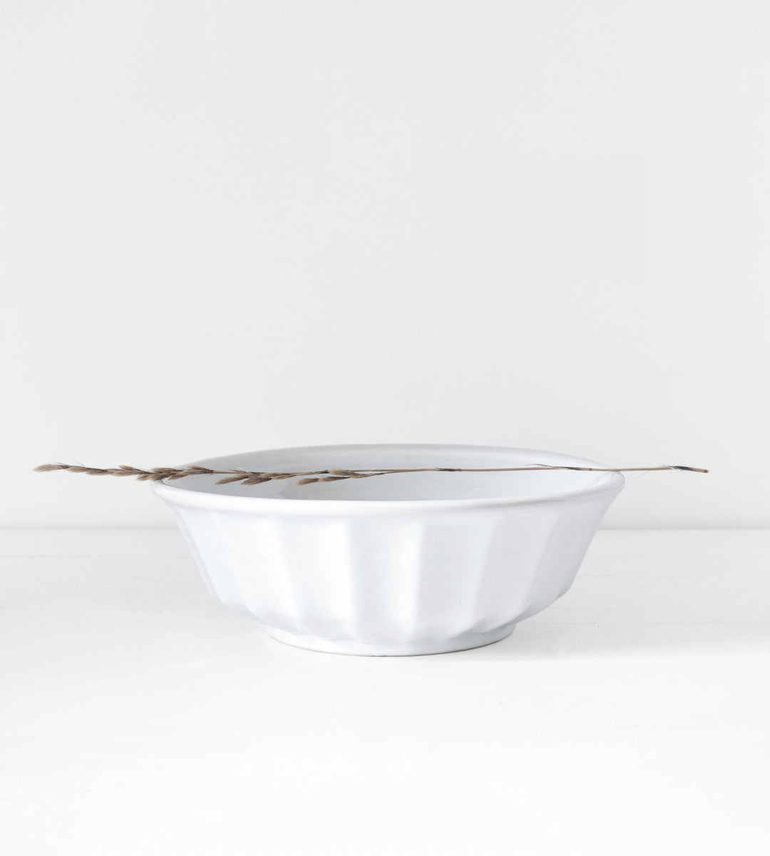 French Rustic Mixing Bowl | White